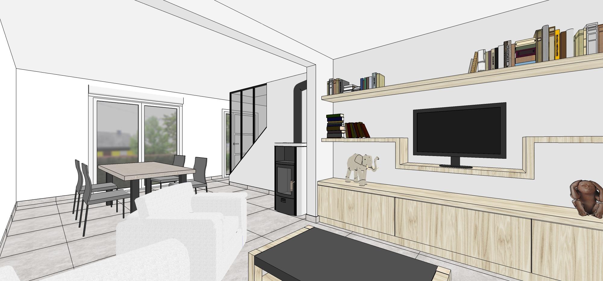 Escalier Dans Un Salon projet aménagement salon et escalier - architecture